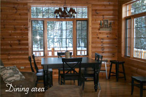 Image of the Executive Home at Angler's Isle Northwoods Resort.